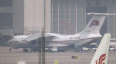 金正恩三度訪中 北韓專機抵達北京