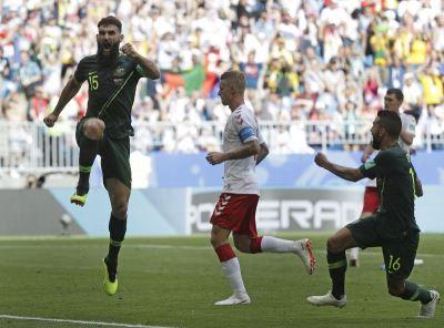 世界盃澳洲逼和丹麥 保晉級一線生機