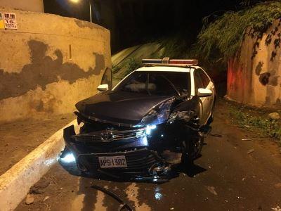 警車自撞高層疑下封口 竹東警分局:絕無此事