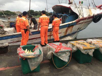 買中國漁獲裝箱回台遭查獲 船長送辦
