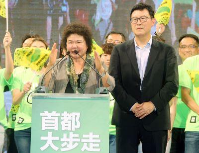 陳菊為姚文智站台 宣示九二無共識