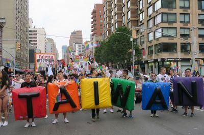 紐約同志驕傲遊行  台灣花車連3年參加