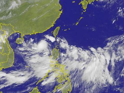 颱風山神往南海移動 3縣市大雨特報[更新]