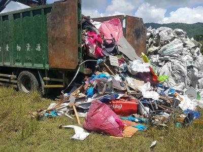 花蓮偏遠山區偷倒事業廢棄物 2男被逮送辦