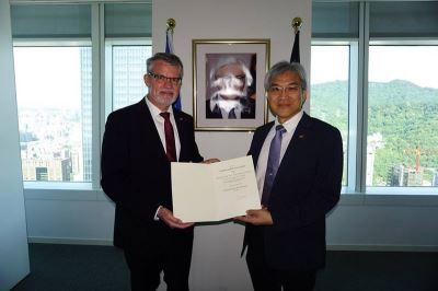 曾梓峰任德國在台協會駐高雄名譽代表 台灣第一人