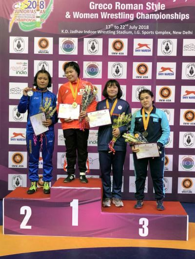 台湾女子角力好手张惠慈 印度亚青赛摘铜