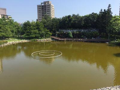 台中豐樂公園水池飄異味 清淤修繕