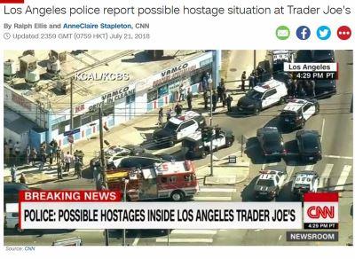 洛杉磯疑似發生挾持人質事件 尚待釐清