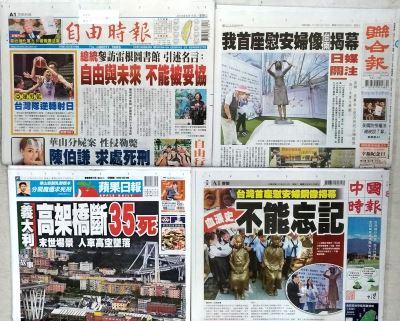 107年8月15日台灣各報頭條速報