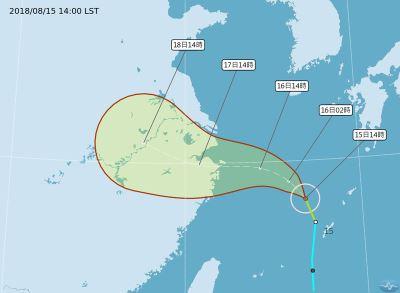 颱風棕櫚生成不直接影響台灣 未來一週留意雨勢