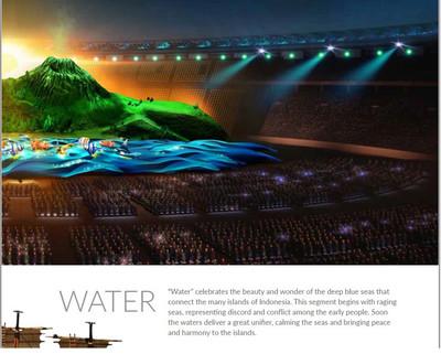 亞運開幕式看點 壯觀山脈舞台數千舞者