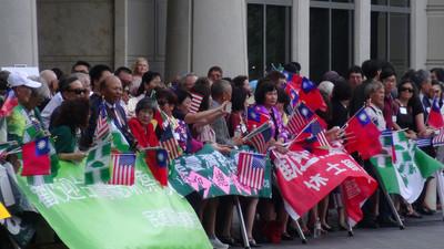 蔡總統過境休士頓  藍綠紅各自表達立場