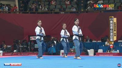 亞運跆拳道品勢  中華女團不敵泰國鍍銅
