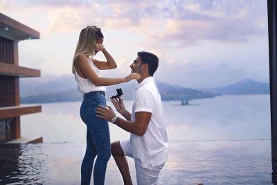 浪漫求婚記爆紅  以色列名模情定日月潭