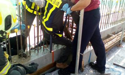 通霄電廠工人墜落  腿遭鋼筋刺穿送醫不治