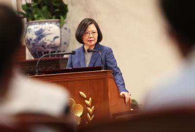 蔡總統:中國打壓 讓區域內民主國家更緊密