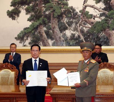 南北韓平壤簽署軍事協議  禁止一切敵對行為