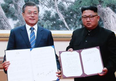 文金簽署平壤宣言 金正恩承諾回訪首爾[影]