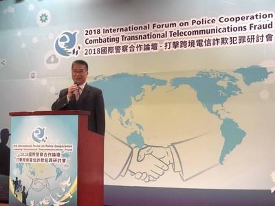 打擊國際犯罪 徐國勇盼與各國密切合作