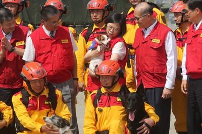 台灣搜救犬能量強 7隻獲聯合國認證