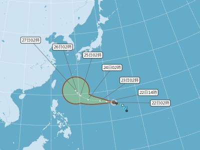 北部23日變天未來一週有雨 颱風27日接近台灣