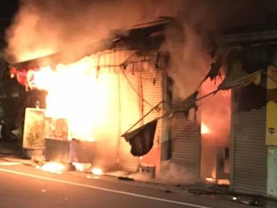 台中霧峰23日凌晨住宅火警 無人傷亡