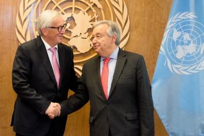聯合國與歐盟領導人發表聯合聲明 力促多邊主義
