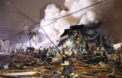 札幌居酒屋爆炸42傷 周遭數幢建築倒塌