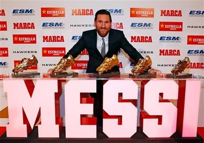 梅西5度獲歐洲金靴 超越C羅成史上最多