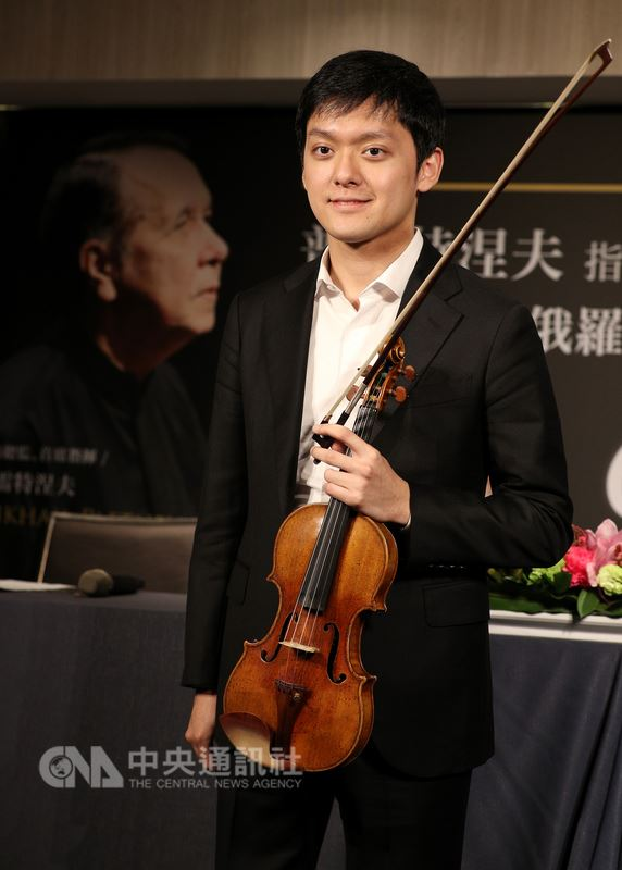 知名指揮家普雷特涅夫6月將率俄羅斯國家管弦樂團來台表演,台灣小提琴家曾宇謙(圖)12日出席記者會,對將一同合作演出貝多芬的小提琴協奏曲感到期待。中央社記者張皓安攝 107年3月12日