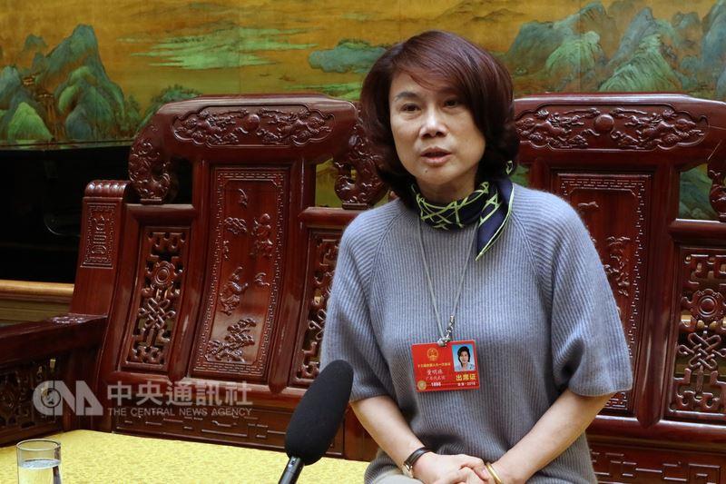 中國全國人大代表、珠海格力電器股份有限公司董事長董明珠(圖)12日受訪時表示,「中國製造」最需要的法律支持是「公平的環境」。中央社記者繆宗翰北京攝 107年3月12日