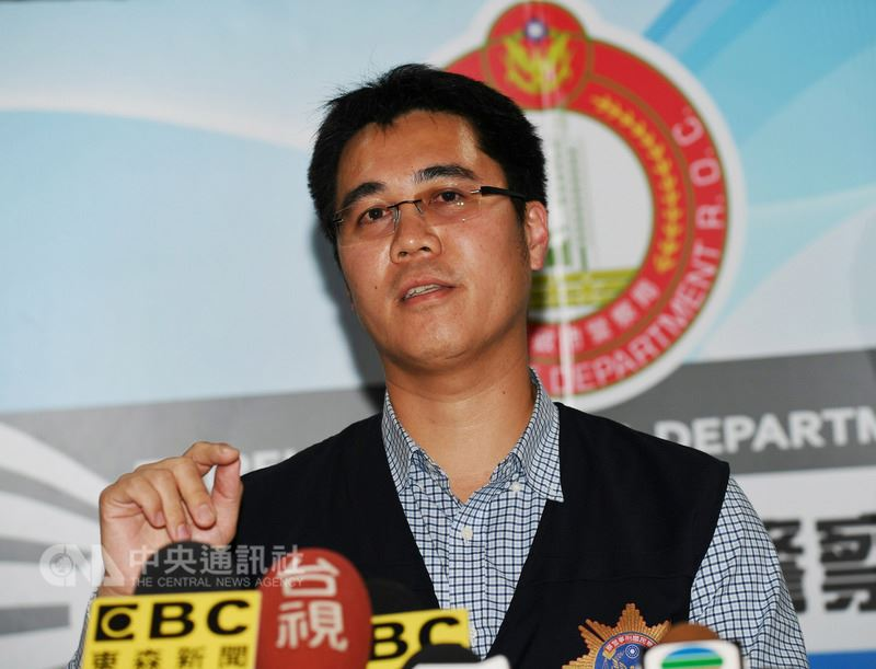 台北市警察局大同分局偵查隊長廖韋勝(圖)13日在分局大廳召開記者會,對香港籍潘姓女子來台旅遊,遭陳姓男友殺害一案提出偵辦說明。中央社記者施宗暉攝 107年3月13日