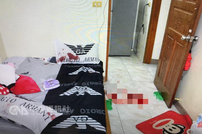 台南市一名22歲劉姓男子13日凌晨在永康區租住處疑似遭友人持刀刺傷,被發現後送醫宣告不治。劉男租住處地上還留有血跡。(翻攝照片)中央社記者楊思瑞台南傳真  107年3月13日