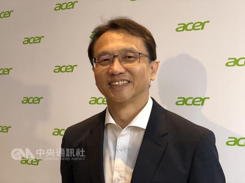 電腦品牌廠宏碁14日舉辦年度供應商大會,董事長陳俊聖發下豪語,今年電競最大目標是在美國市場擠下戴爾(Dell)、登上第一名。中央社記者吳家豪攝 107年3月14日
