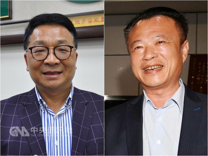 民進黨14日通過提名陳歐珀(左起)選宜蘭縣長、翁章梁參選嘉義縣長。(中央社檔案照片)