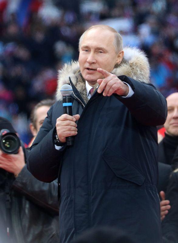 俄羅斯總統蒲亭預料將在18日的大選輕鬆連任,但民眾不滿蠢蠢欲動,而6年後的接班問題也更加撲朔迷離。(檔案照片/中新社提供)