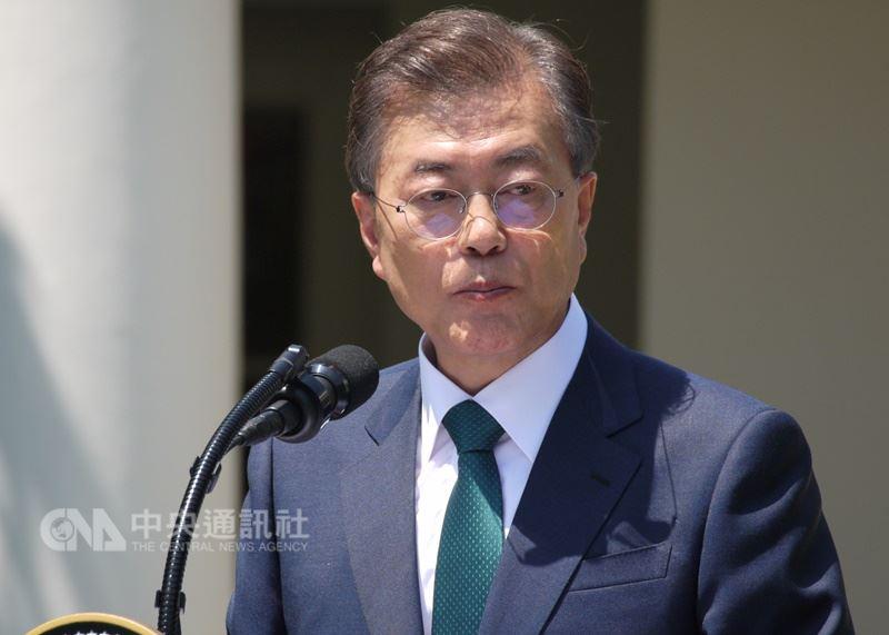 南韓總統文在寅強調,朝鮮半島非核化是保證朝鮮半島和平、甚至全世界和平的重要目標和過程,任何情況與任何條件,都絕對不能讓步。(中央社檔案照片)