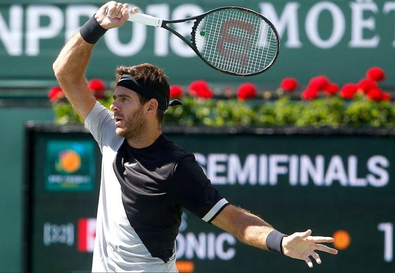 阿根廷網球名將戴波特羅(圖)在ATP印地安泉網賽男單4強戰,擊敗加拿大選手羅尼奇晉級決賽。(圖取自BNP Paribas Open推特twitter.com/BNPPARIBASOPEN)