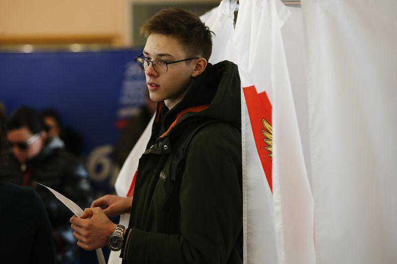 俄羅斯總統蒲亭18日在總統大選獲壓倒性勝利,不過疑為了推升投票率,傳出大規模強迫投票現象。(安納杜魯新聞社提供)