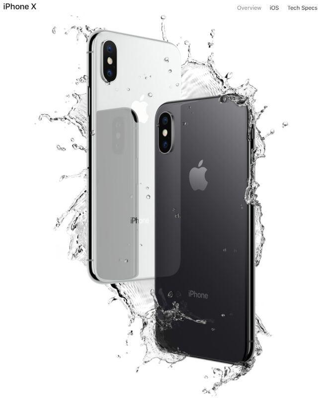 外媒報導,蘋果在iOS裝置內緣防水塗層和密封設計下苦心,未來iPhone防水規格可提升到IP68。圖為iPhone X。(圖取自Apple官網www.apple.com)