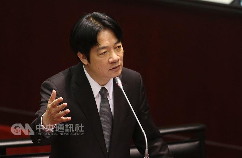 行政院長賴清德20日表示,希望明年台灣省政府的預算是空的,福建省政府、台灣省諮議會等預算也會少編。(中央社檔案照片)