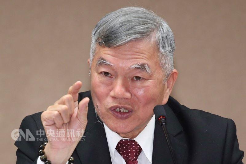 經濟部長沈榮津(圖)21日在經濟部舉行記者會,針對電力穩定供應及深澳電廠議題做說明。中央社記者吳翊寧攝 107年3月21日