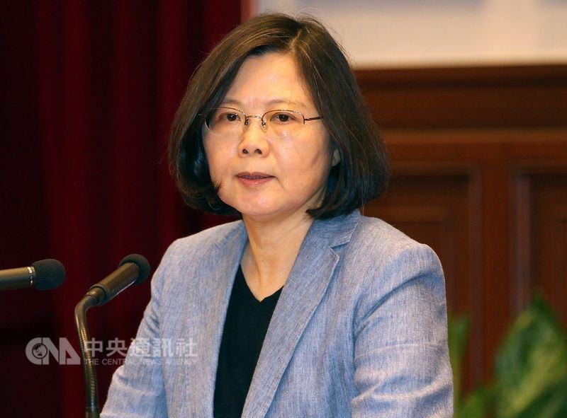 總統蔡英文21日召開國安首長會議;對近日傳出中國打壓台灣在WHA參與,她說,這不是一個大國應有的作為。(中央社檔案照片)