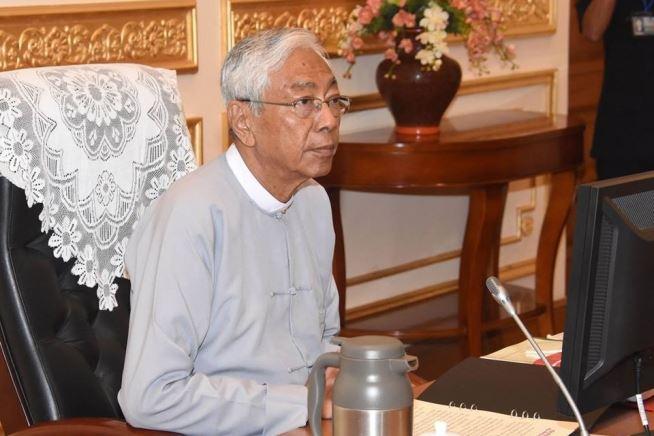 緬甸總統總統廷覺在任2年後,21日辭職下台。(圖取自緬甸總統辦公室網頁www.president-office.gov.mm)