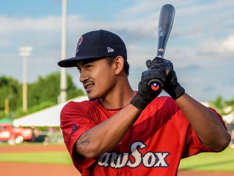 美國職棒MLB波士頓紅襪台灣野手林子偉,本季第2度先發,再次繳出單場2安好表現。(圖取自紅襪推特網頁twitter.com/redsox)