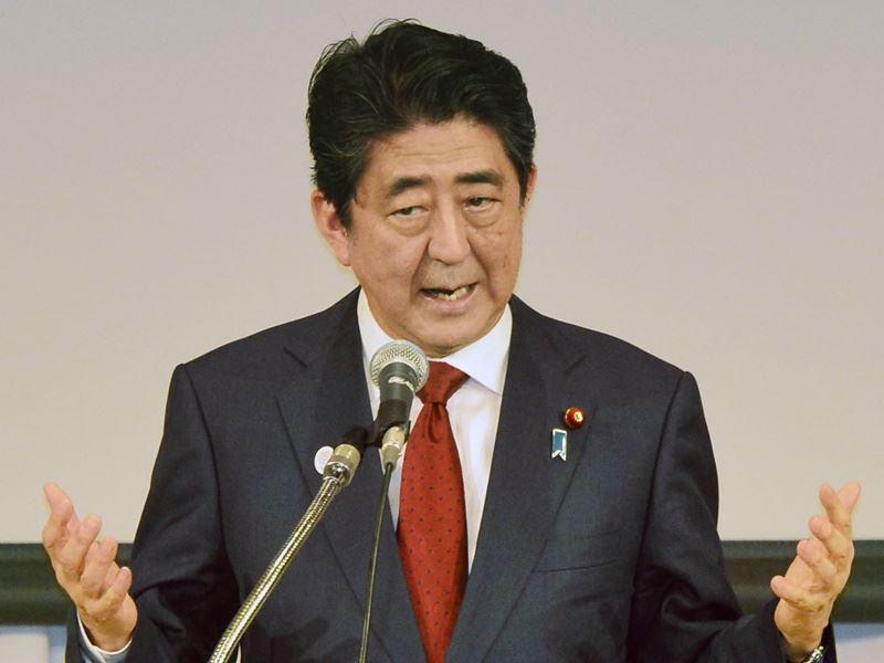 一項民調顯示,日本首相安倍晉三的支持率跌至26.7%,創下第二次執政以來新低。(檔案照片/共同社提供)