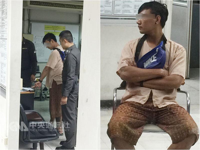 涉及台灣女遊客性侵害案的泰國男按摩師向警方辯稱是女方同意,並未強迫。 中央社記者記者劉得倉攝 107年4月15日