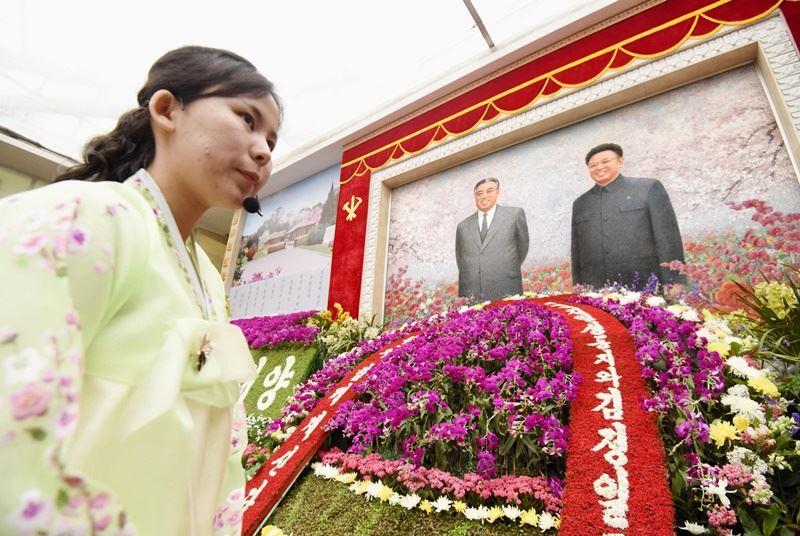 北韓將金日成生日4月15日定為太陽節,是全國最重大節日。(共同社提供)