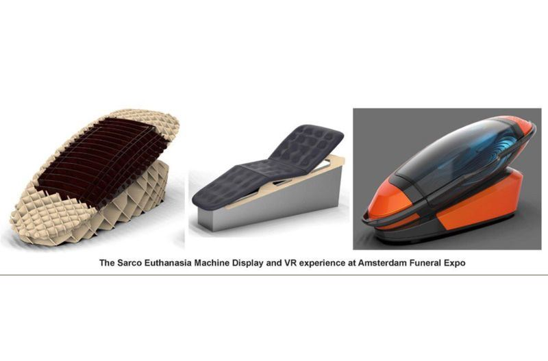 倡議安樂死的澳洲醫生尼奇克及荷蘭設計師班尼克,研發出名叫Sarco的3D列印死亡機器。(圖取自尼奇克推特twitter.com/philipnitschke)