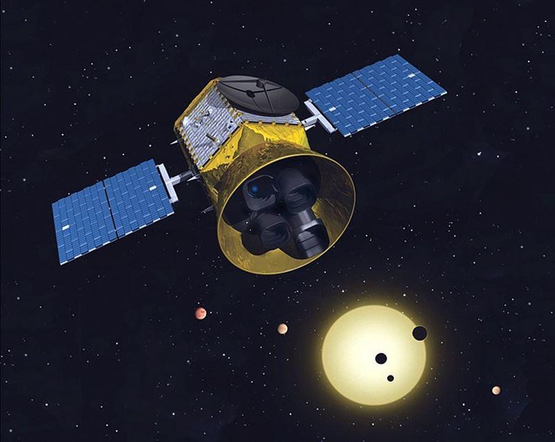 美國國家航空暨太空總署NASA預計將發射一架造價3億3700萬美元的太空探測器,目標是擴增人類對太陽系外行星的探索。圖為TESS任務概念圖象。(圖取自NASA網頁www.nasa.gov)